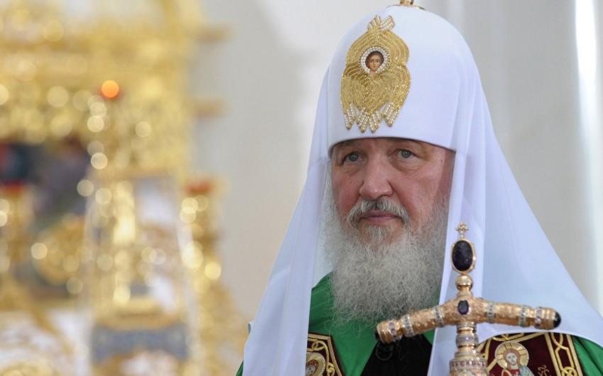 Moskvanın və Bütün Rusiyanın patriarxı Kirill Azərbaycan Prezidentini təbrik edib