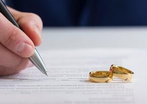 Bu il qeydə alınan nikah və boşanmaların sayı açıqlandı