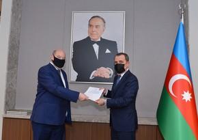 Глава МИД Азербайджана принял копии верительных грамот новоназначенного посла Бельгии