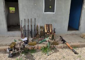 Laçın polisi azad edilən ərazilərdə silah-sursat aşkarladı