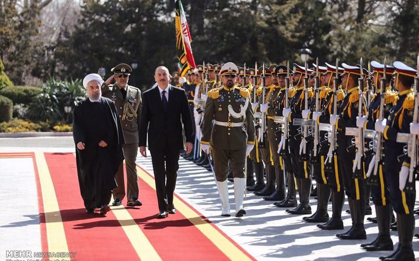 İranda Azərbaycan Prezidentinin rəsmi qarşılanma mərasimi olub