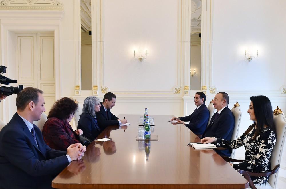 Президент Ильхам Алиев принял министра обороны Грузии и вице-президента Болгарии