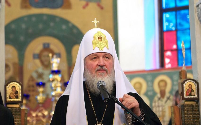 """Rusiya Patriarxı Kirill: """"Əgər Qarabağ məsələsi dini liderlərdən asılı olsaydı, biz bunu həll edərdik"""""""