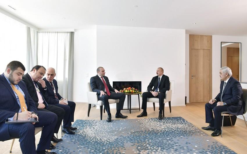 Azərbaycan Prezidenti və Gürcüstanın Baş naziri arasında görüş keçirilib - YENİLƏNİB
