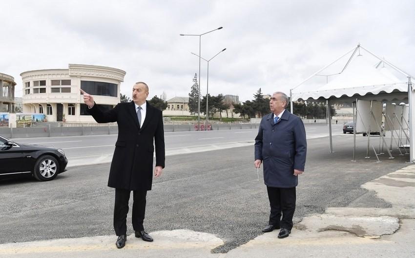 Prezident Bakı-Sumqayıt yolunun genişləndirilməsi  çərçivəsində görülən işlərlə tanış olub - YENİLƏNİB