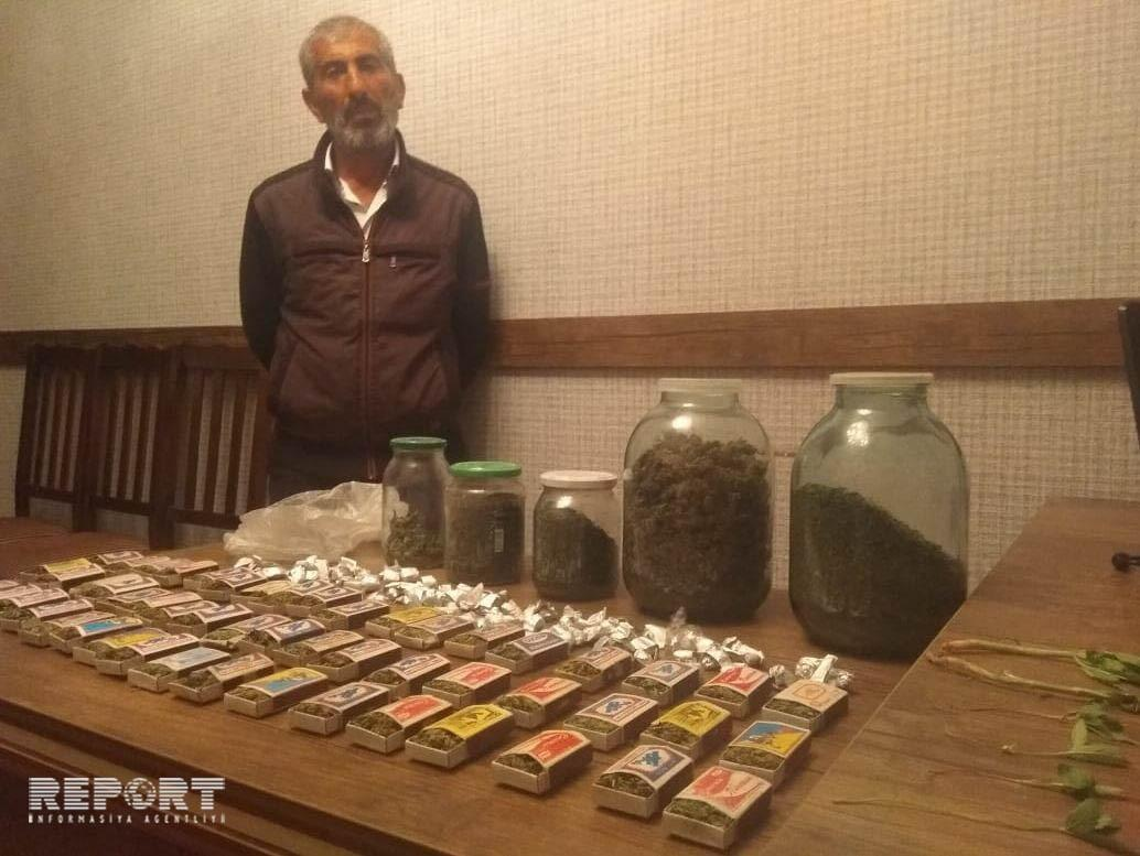 У жителя района Азербайджана обнаружено большое количество наркотиков - ФОТО