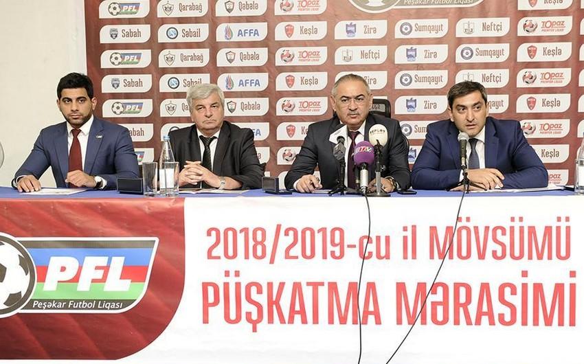 Azərbaycan Premyer Liqasının 2018/2019 mövsümü üçün püşkü atılıb