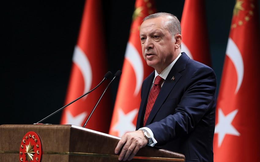 """Ərdoğan: """"Azərbaycanı yalnız qoymadıq, qoymayacağıq da"""""""