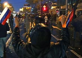 В Армении протестующие перекрыли трассу Ереван-Севан
