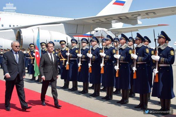 Премьер-министр России прибыл с визитом в Азербайджан - ОБНОВЛЕНО - ФОТО