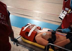 Tokio-2020: Niderland velosipedçisi treki xərəkdə tərk edib