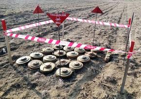 Azad edilən ərazilərdə 16000-dən çox mina və partlamamış döyüş sursatı aşkarlanıb