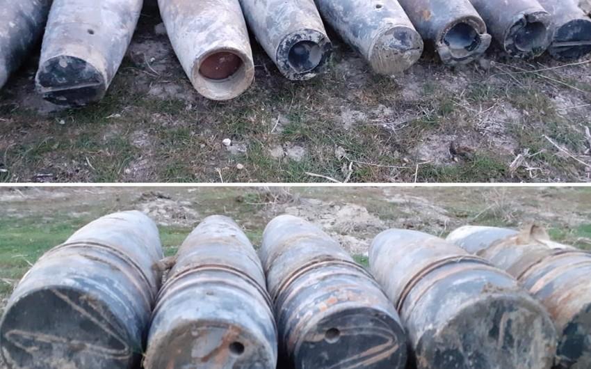 Xızıda 59 ədəd top mərmisi aşkarlandı - FOTO