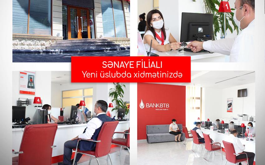 Bank BTBnin Sənaye filialı yeni üslubda təmir edilib