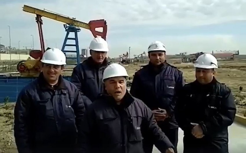 """Neftçilər vətəndaşlara """"Evdə qal"""" çağırışı etdilər - VİDEO"""