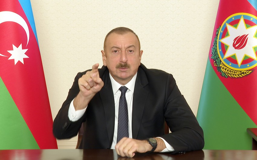 Ilham Aliyev: Occupation of Kalbajar is the direct responsibility of then ruling Popular Front