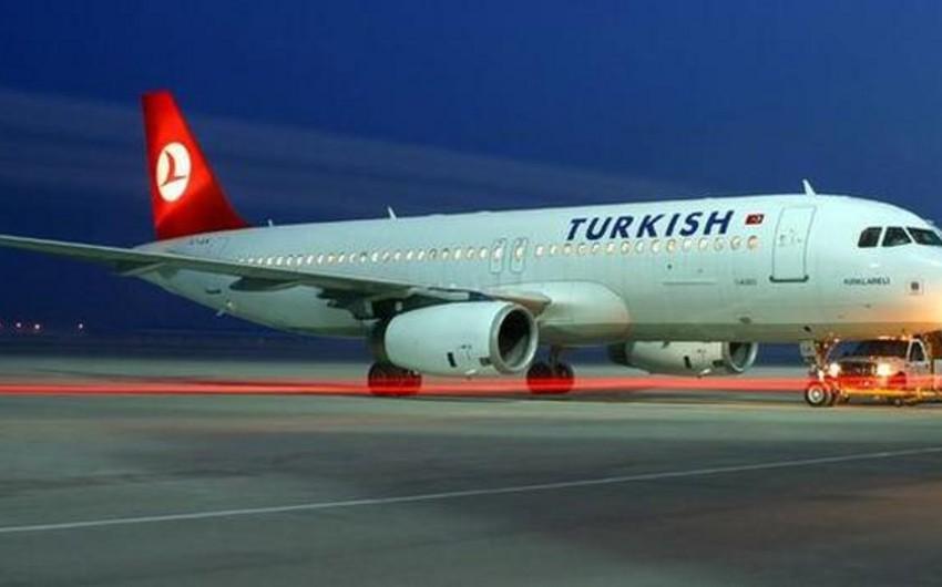 Türk Hava Yollarına məxsus təyyarə məcburi eniş edib