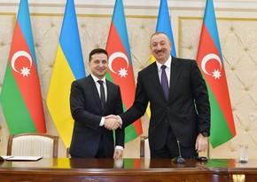 Zelenski Prezident İlham Əliyevin doğum günü münasibətilə paylaşım edib