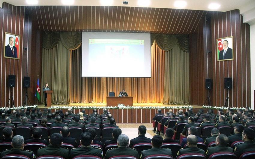 Прошли учебно-методические сборы с сотрудниками кадровых органов Азербайджанской армии