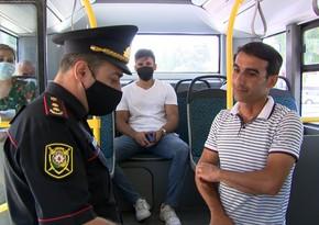 Bakıda maska taxmayan sərnişinlər avtobusdan düşürülüb - VİDEO