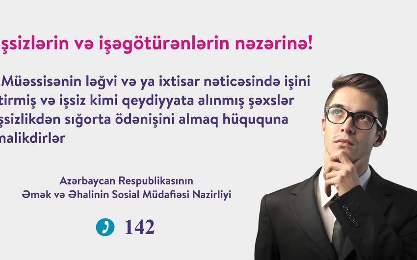 Nazirlik işsizlər və işəgötürənlərə müraciət edib