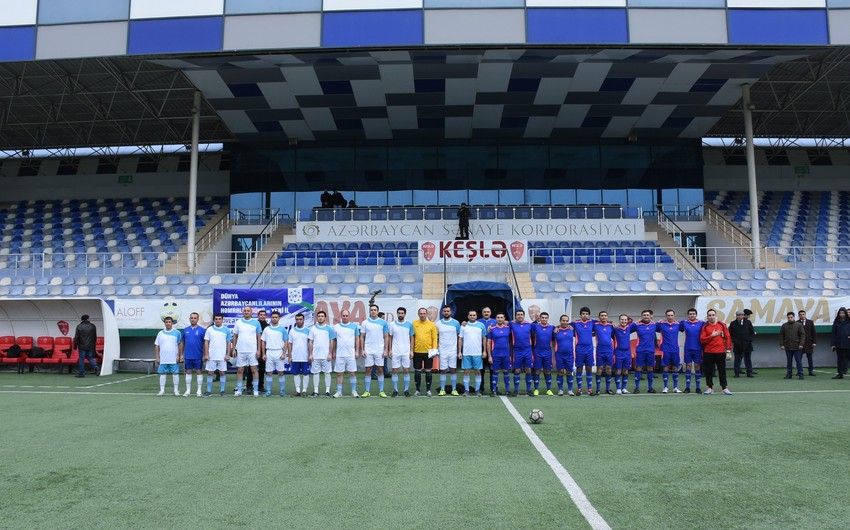 Прошел товарищеский матч по футболу между госслужащими и журналистами