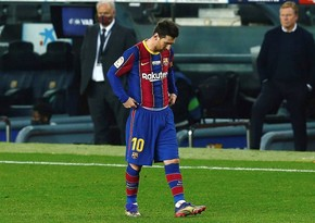 """Messi """"Eybar""""la oyunda iştirak etməyəcək"""