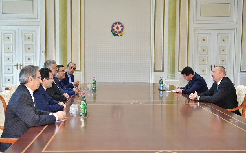 President Ilham Aliyev received delegation led by head of Iran's Culture and Islamic Communications organization