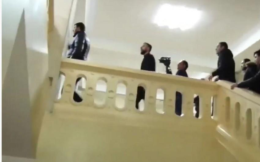Armenian protesters storm university building
