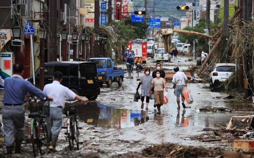Yaponiyada leysan yağışlarına görə 400 mindən çox əhali təxliyyə olunur