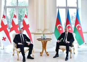 President Ilham Aliyev receives Georgian Prime Minister