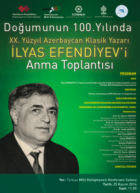 100th anniversary of the birth of Ilyas Efendiyev to be celebrated in Turkey