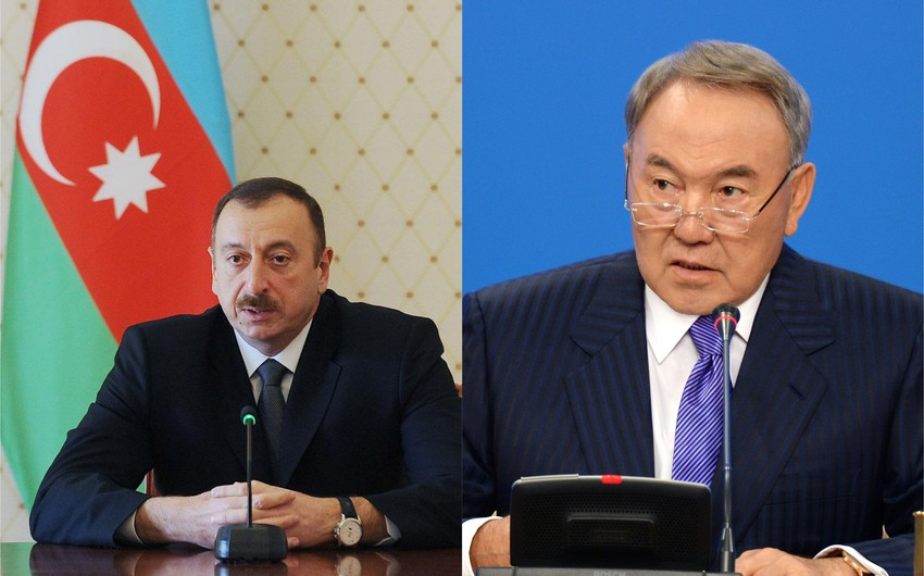 Azərbaycan Prezidenti Nursultan Nazarbayevə zəng edib