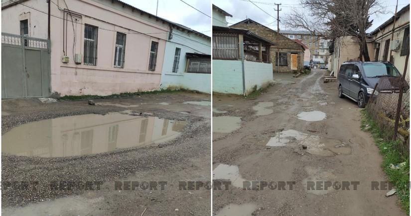 Biləcəridə yol problemi - VİDEO