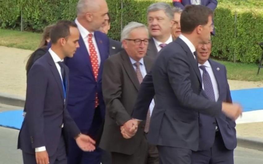 Avropa Komissiyası Jan-Klod Yunkerin NATO sammitində sərxoş olması məsələsinə aydınlıq gətirib - VİDEO