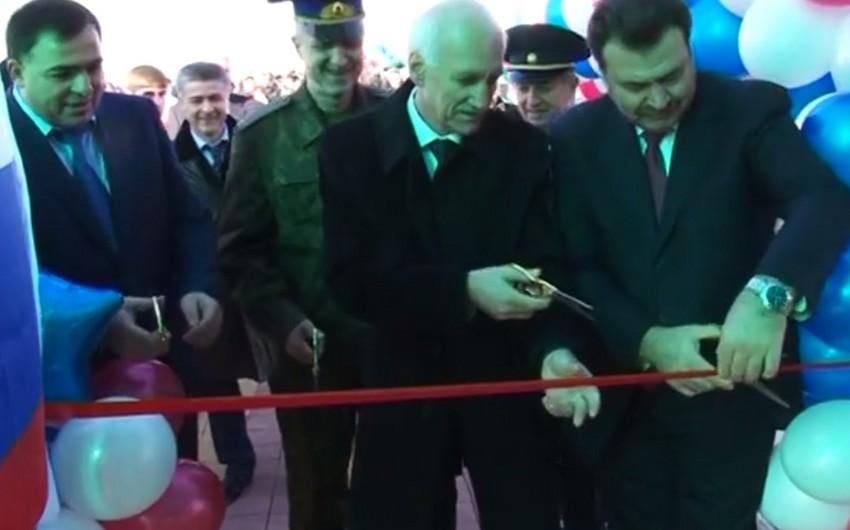 Azərbaycan-Rusiya sərhədində yeni keçid terminalı açılıb