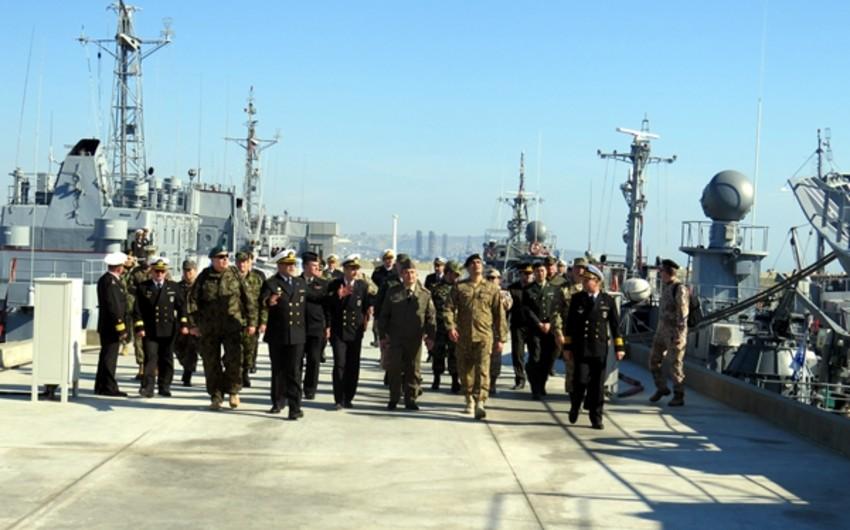Military attaches visit Azerbaijani Naval Forces' base