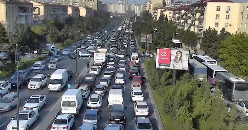 На дорогах Баку пробки