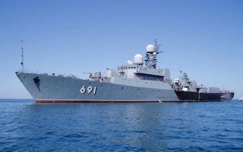 Rusiya federasiysının gəmiləri Bakı limanına daxil olub