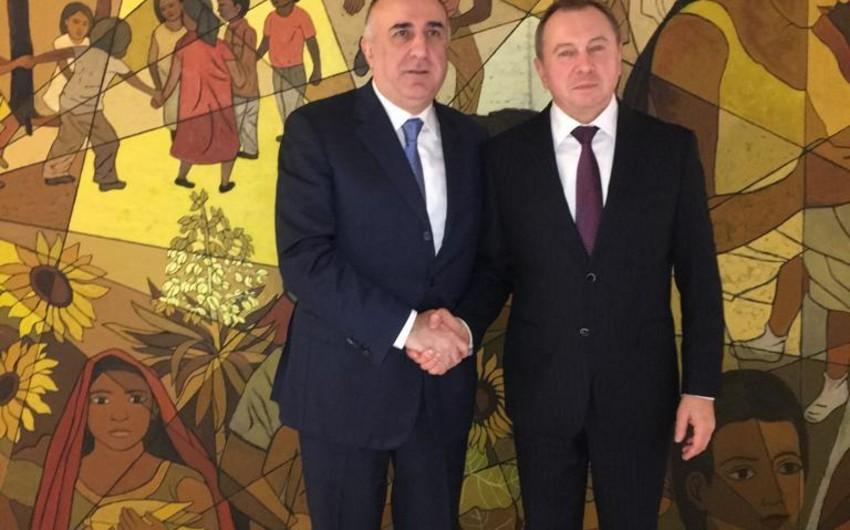 Elmar Məmmədyarov Belarusun xarici işlər naziri ilə görüşüb