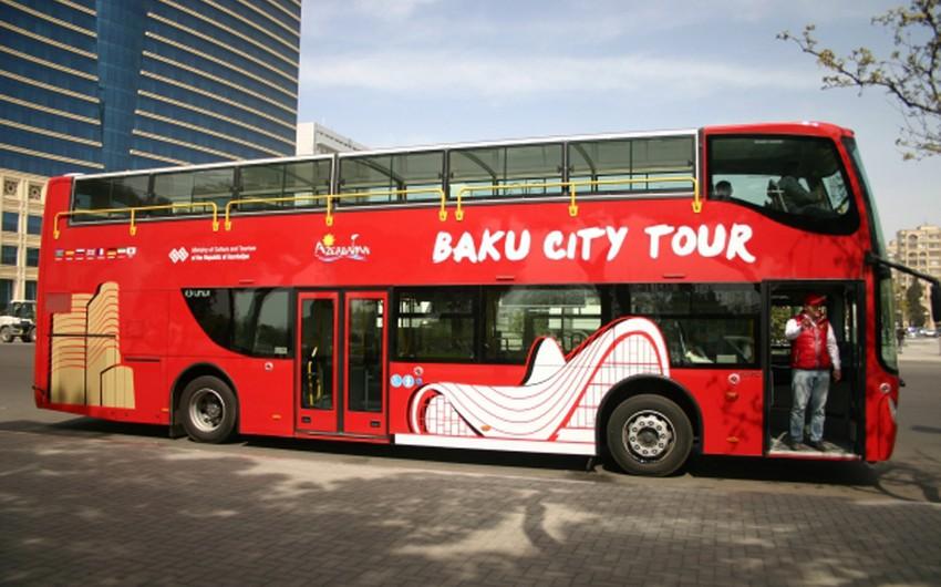 """""""Baku City Tour"""" turistik avtobuslarının fəaliyyəti müvəqqəti dayandırılacaq"""