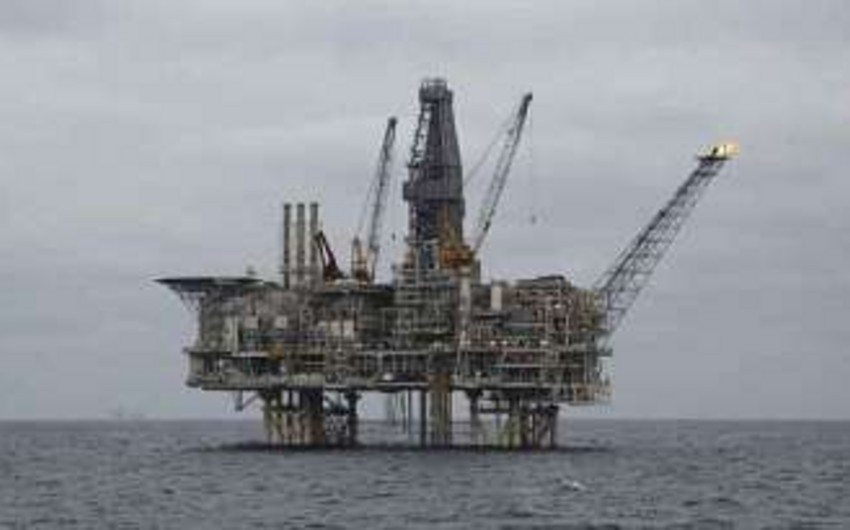 Reconstruction work is underway at 10th base in 'Guneshli' oil rig after fire accident