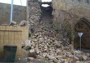 В Дербенде разрушена часть стены крепости Нарын-Кала
