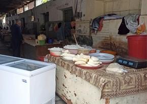 Yevlax bazarında nöqsanlar aşkarlanıb