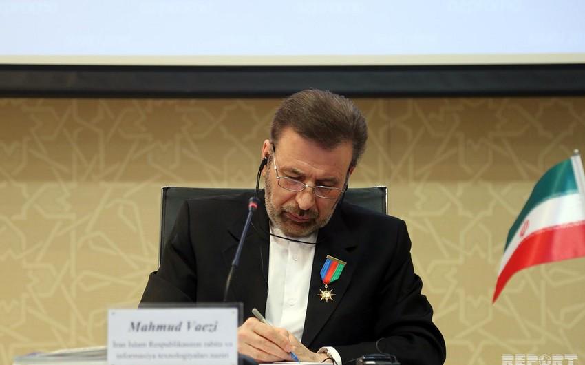 """Mahmud Vaezi: """"Azərbaycanın ərazi bütövlüyü İranın regional strategiyasıdır"""""""