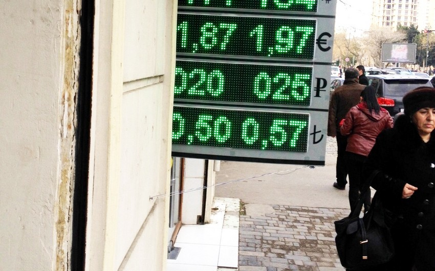 Sale rate of US dollar reaches 1,84 AZN/USD in Baku