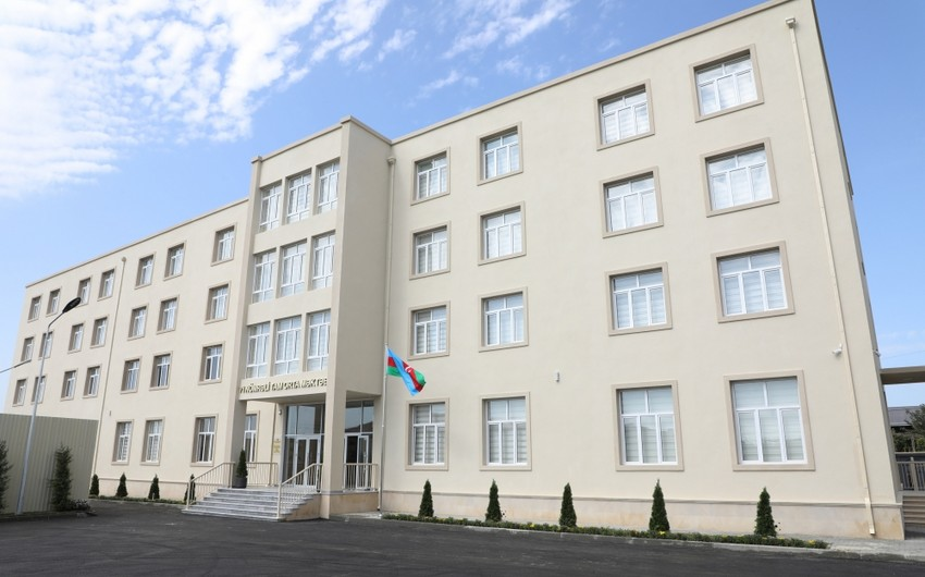 President Ilham Aliyev views conditions created at secondary school No 71 in Sabunchu district