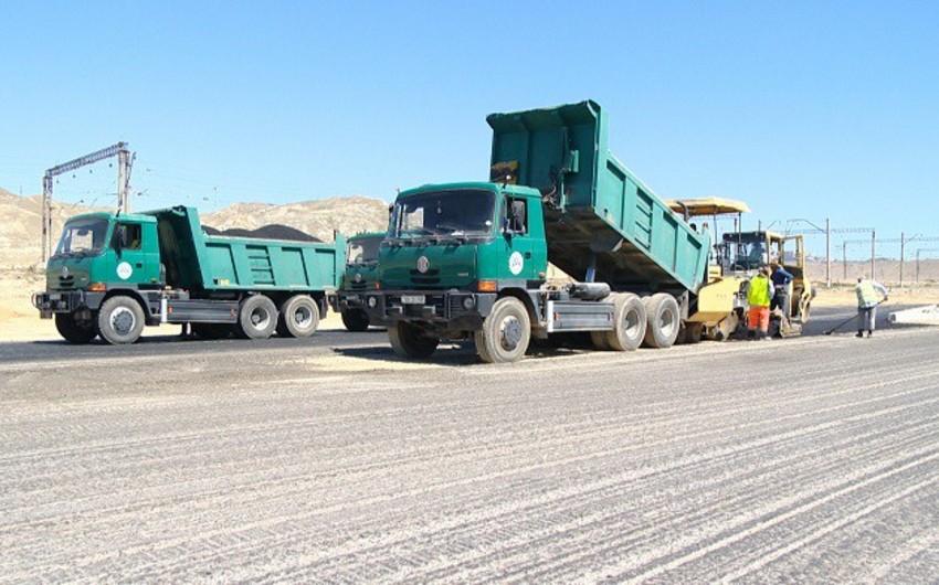 Xocahəsən-Lökbatan avtomobil yolunun bir hissəsi təmir edilir