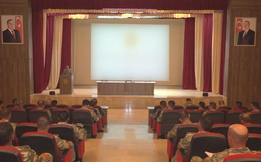Naxçıvan Qarnizonu Qoşunlarında toplantı keçirilib - VİDEO