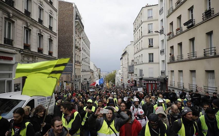 Fransada sarı jiletlilərin 28-ci nümayişi keçirilir